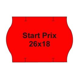 Etikety cen. PRIX 26x18 oblé - 1000 etikiet/kotúčik, červené