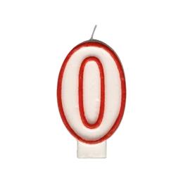 """Sviečka číslová """"0"""" 75 mm"""