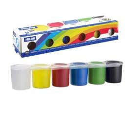 Sada temperových farieb MILAN 6ks 25ml
