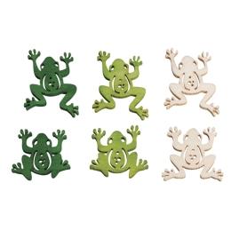 Drevené žabky 3 farby 18 ks