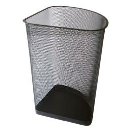 Drôtený kôš na odpadky rohový, čierny 19 l