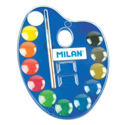 Farby vodové MILAN 12ks + štetec