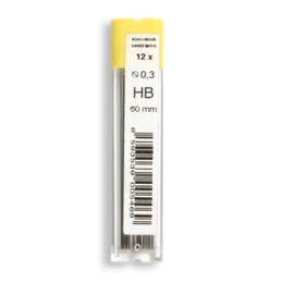 Grafitové tuhy KOH-I-NOOR HB / 0,3 mm, 12 ks