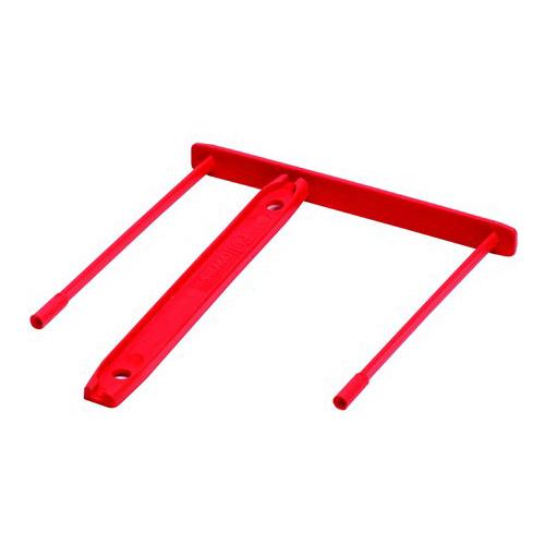Archívna spona, plastová, červená, 85 mm, FELLOWES, 100 ks