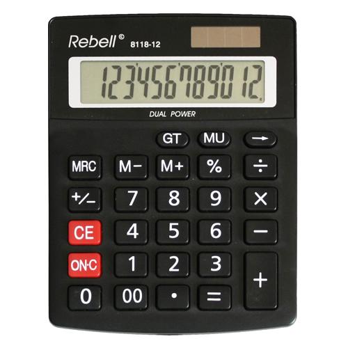 Kalkulačka stolová REBELL RE-8118-12 BX