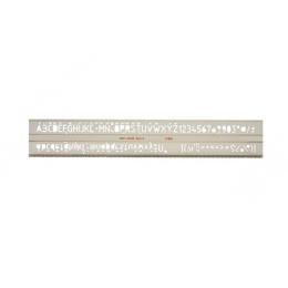 Šablóna písmenková, ISO 10 mm