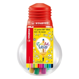 Liner STABILO point 88 sada 12 ks Mini Colorful Ideas /+Darček Stabilo Boss