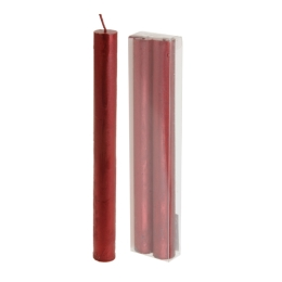 Sviečka - červená 22 cm, sada 2ks