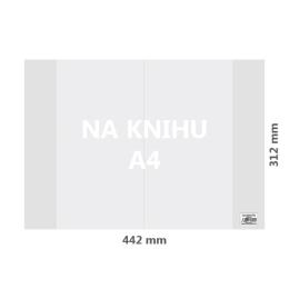 Obal na knihu A4 PVC 442x312 mm, hrubý/transparentný, 1 ks