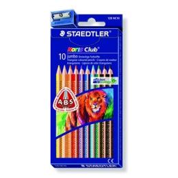 """Farebné ceruzky , trojuholníkové, hrubé, STAEDTLER """"Noris Club, 10 rôznych farieb"""