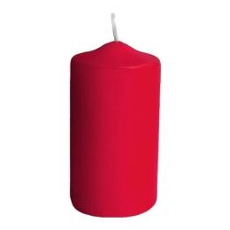 Sviečka valcová 50 x 100 mm, červená (4 ks v bal.)