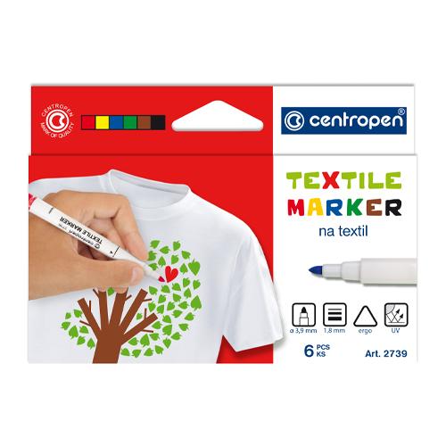 Popisovač CENTROPEN 2739 Textile - sada 6 ks