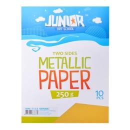 Dekoračný papier A4 Metallic žltý 250 g, sada 10 ks