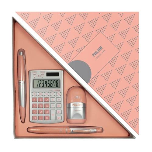 08738 სასაჩუქრე კომპლექტი ვარდისფერი 1*4 საგნიანი
