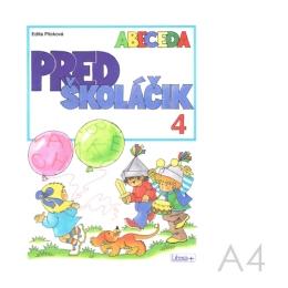 Omaľovánka náučná  A4 Litera - Predškoláčik 4