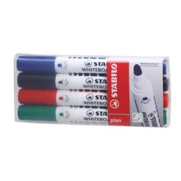 """Popisovač na tabule, 2,5-3,5 mm, kuželový hrot, STABILO """"Plan"""", mix farieb"""