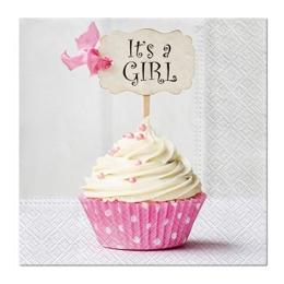 Obrúsky PAW L 33X33 cm Pink Cupcake