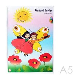 Omaľovánka A5 Akim - Maková panenka
