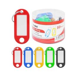 Krúžok na kľúče s menovkou - mix farieb, 1ks