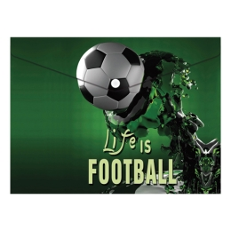 Obal PP s patentkou A4, Football