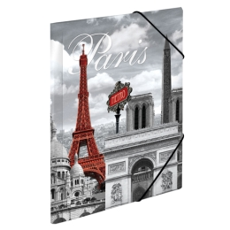 Doska s gumičkou PP A4 Paris