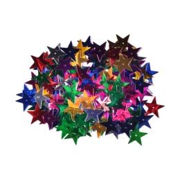 Dekorácia hviezdy mix farieb 25 mm 14 g