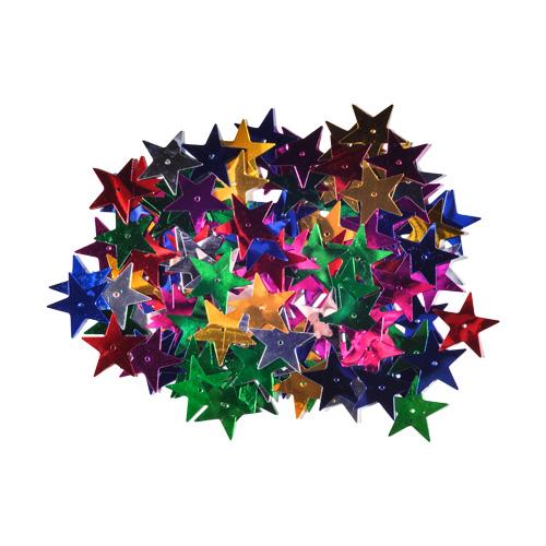 Dekorácia hviezdy mix farieb 25 mm/14 g