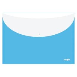 Obal s patentkou + zadné vrecko PP/A4, modrý
