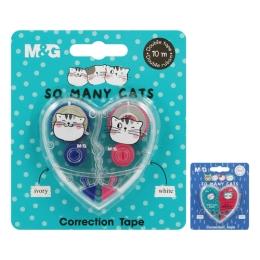 Korektor páska M&G So Many Cats! /5 mm x 10 m/, sada 2 ks