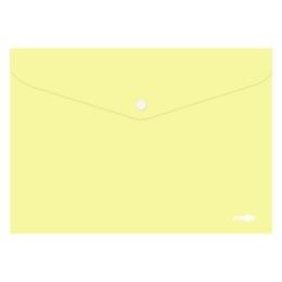 Obal s patentkou PP/A4 Pastel - žltý