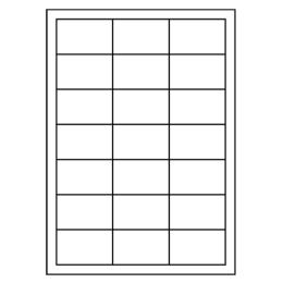 Etikety PRINT A4/100 ks, 63x39,5 - 21 etikiet, biele