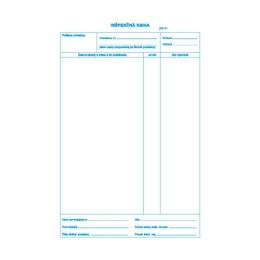 Inšpekčná kniha A4, 25 x 3 listy, samoprepis (306)