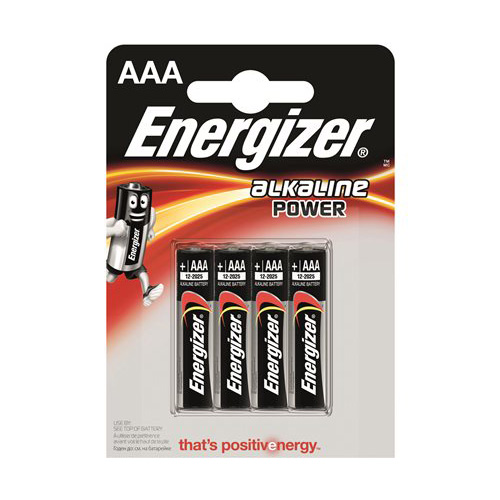 Batéria, AAA mikro, 4ks, ENERGIZER Alkaline Power