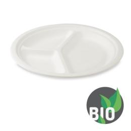 Tanier delený na 3 porcie BIO cukrová trstina 26 cm, 50 ks