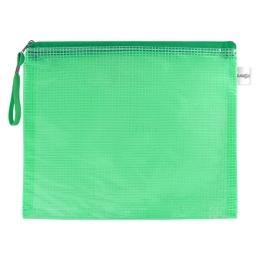 Sieťovaná obálka so zipsom PVC/A4, zelená