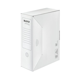 """Archívny box, A4, 100 mm, recyklovaný kartón, LEITZ """"Infinity"""", biely"""