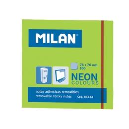 Blok lep NEON MILAN 76 x 76 mm - zelený