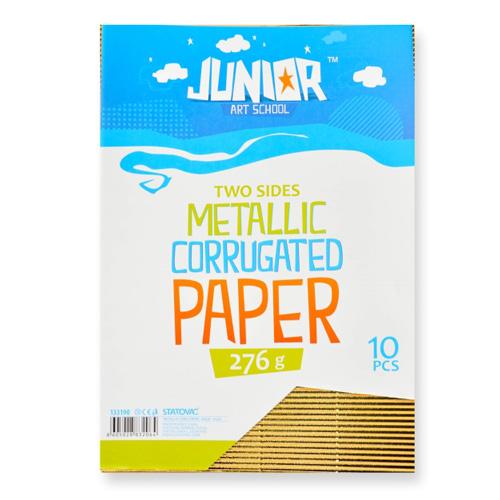 Dekoračný papier A4 Metallic zlatý vlnkový 160 g, sada 10 ks