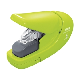 Plus Paper Clinch Stapler mini 106AB (6 sheet) green
