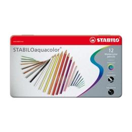 Pastelky aquacolor metal box 12ks
