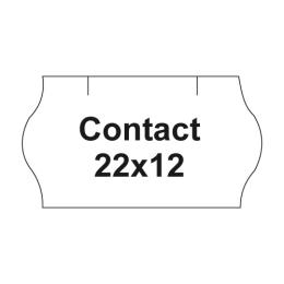 Etikety cen. CONTACT 22x12 oblé - 1500 etikiet/kotúčik, biele
