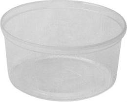 Miska okrúhla priehľadná 250 ml, 100 ks