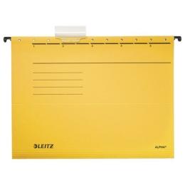 """Závesná zakladacia doska, kartón, A4, LEITZ """"Alpha"""", žltá"""
