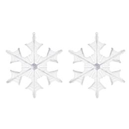 Vianočné ozdoby - PP číre vločky 14 cm, set 2ks