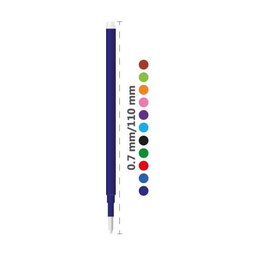 Náplň gumovacia PILOT Frixion 0,7 mm/3 ks - čierna