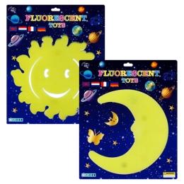 Nálepky - Fluo, mix 2 dizajnov/3 farby