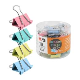 Klip Binder M&G - farebný (19 mm), 40 ks