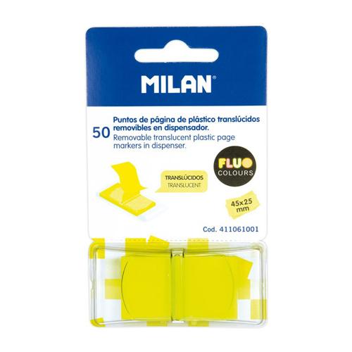 Blok lep MILAN FLUO záložka PVC 45 x 25 mm žltá