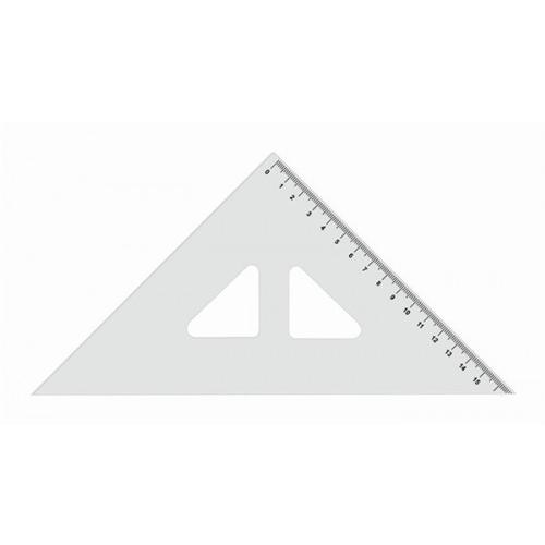 Trojuholník KOH-I-NOOR transparentný s ryskou, 16 cm