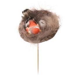 Veľkonočná dekorácia - vták v hniezde 25 cm, 1ks